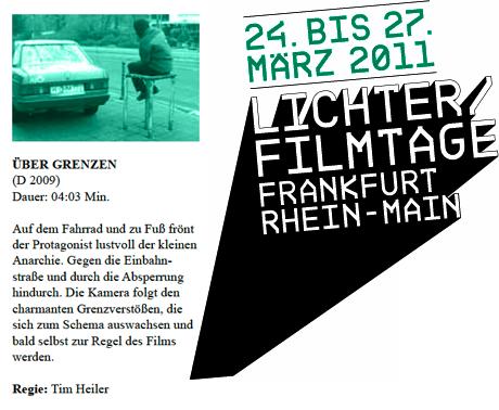 """""""über Grenzen"""" at Lichter Filmtage Frankfurt"""