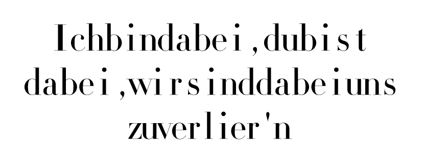 Horizontal distribute center kerning