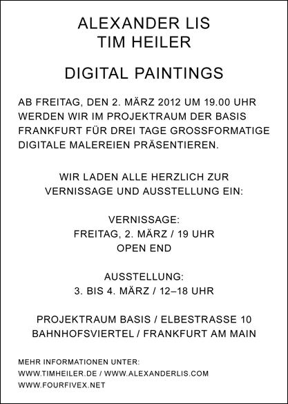 Digital Paintings Back