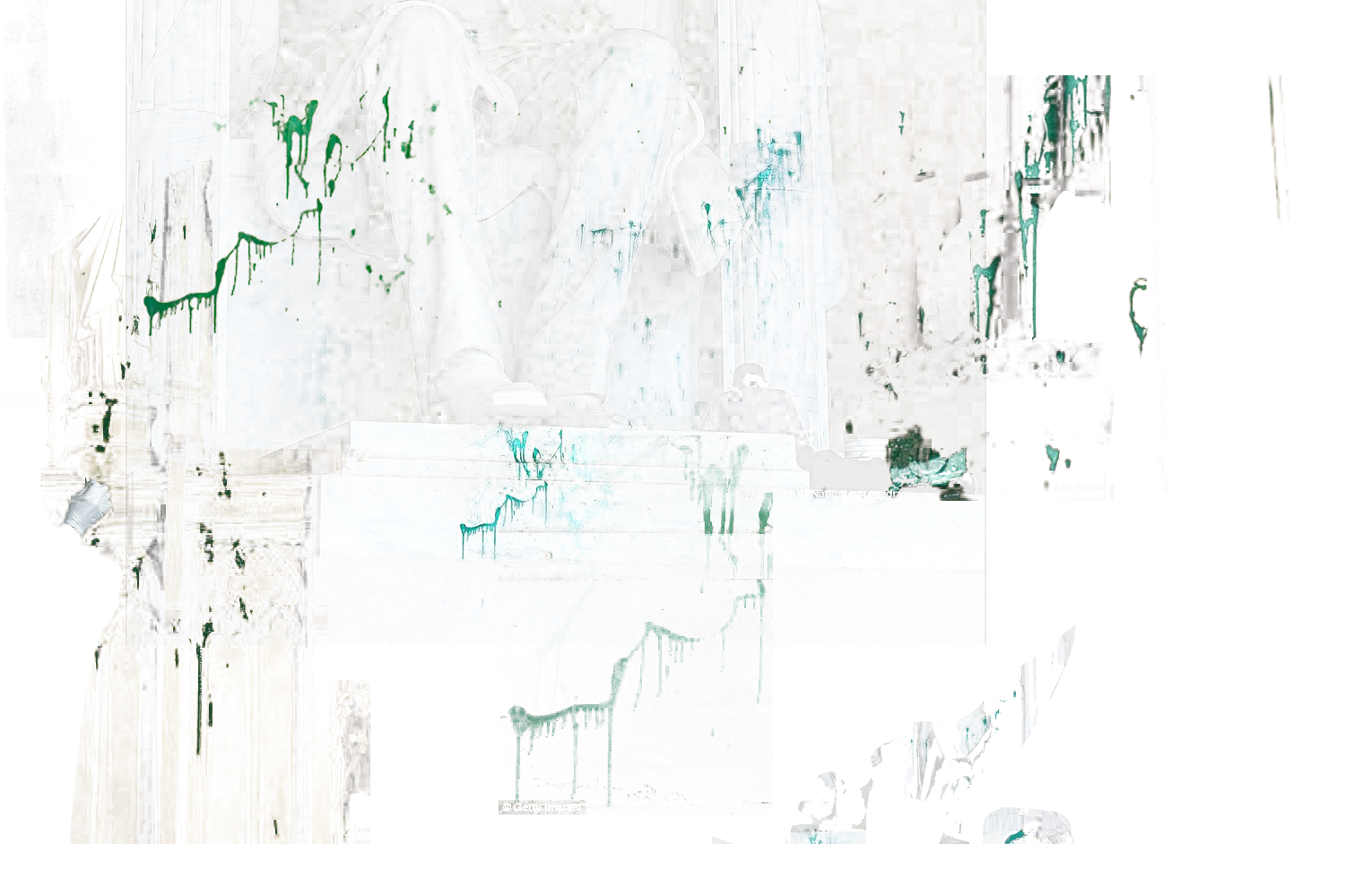 GREEN PAINT MONUMENTS WASHINGTON