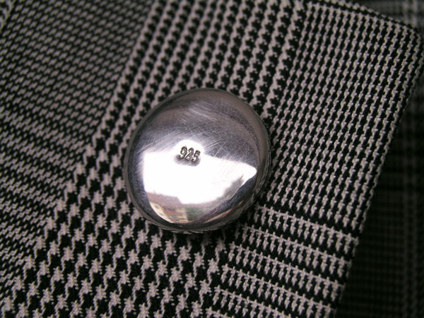 1 inch solid silver badge